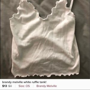 BRANDY 💗 MELVILLE- ruffle tank for 13$!!!!